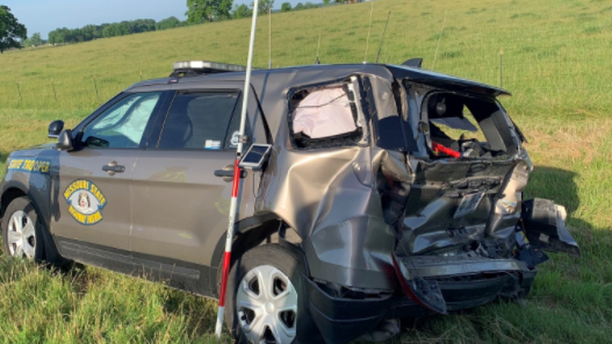 An intoxicated driver struck a Missouri State Highway Patrol's trooper vehicle Sunday morning,...