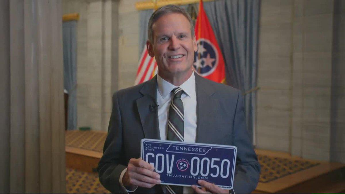 Gov. Bill Lee unveils new license plate design chosen by Tennesseans