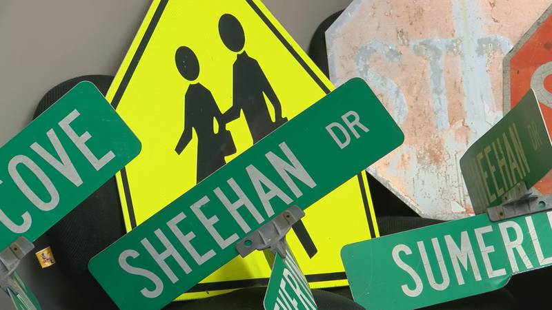 Oldham County police said the signs were removed as part of a social media challenge on...