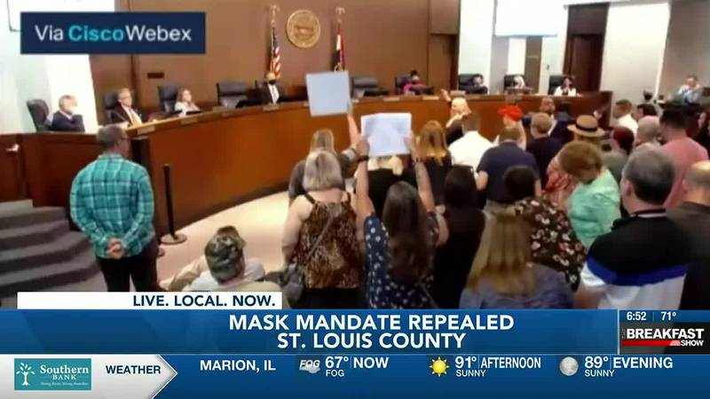 St. Louis County Council votes to overturn mask mandate