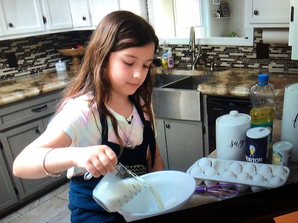 Crystal Britt's daughter, Makenzie, shows us how to make her great-grandpa's homemade pancakes