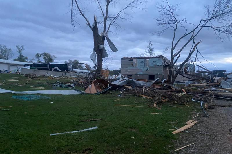 Severe storms caused significant damage in Fredericktown, Mo. on Sunday night.  Some homes were...