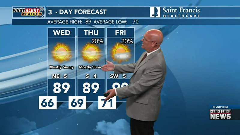 Your First Alert forecast at 6 p.m. on 7/20.