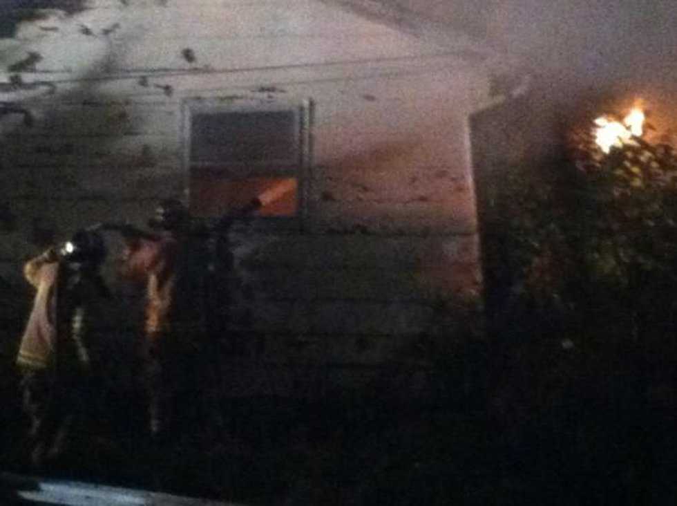 The fire re-lit Tuesday evening and crews are fighting it again. (Source: Mike Mohundro,...