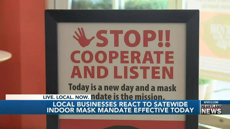 Illinois has a new mask mandate that gets a reaction out of local businesses.