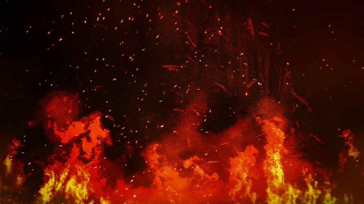 The fire is between the KY 725/Woodville Road and Emily Drive, in the 7400 block.