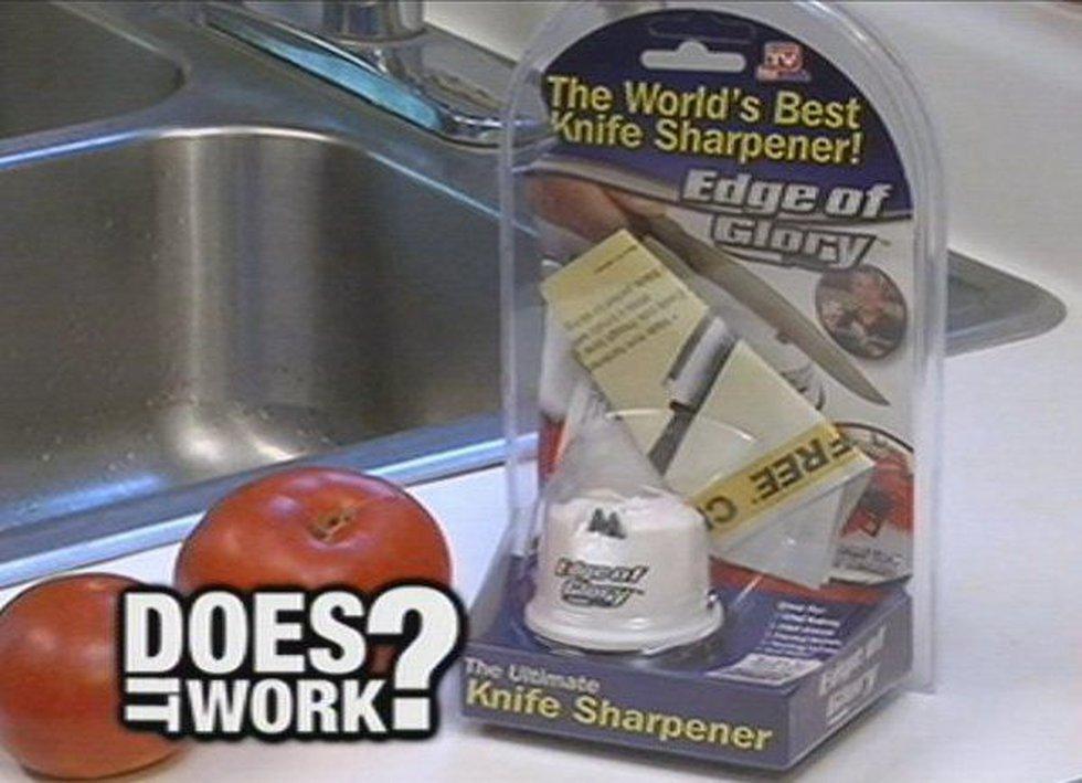 """The Edge of Glory Knife Sharpener promises to be the """"world's best knife sharpener."""""""