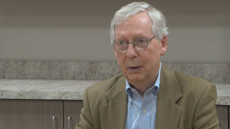 Sen. Mitch McConnell talked about the situation in Afghanistan at the Rotary Club of Paducah...