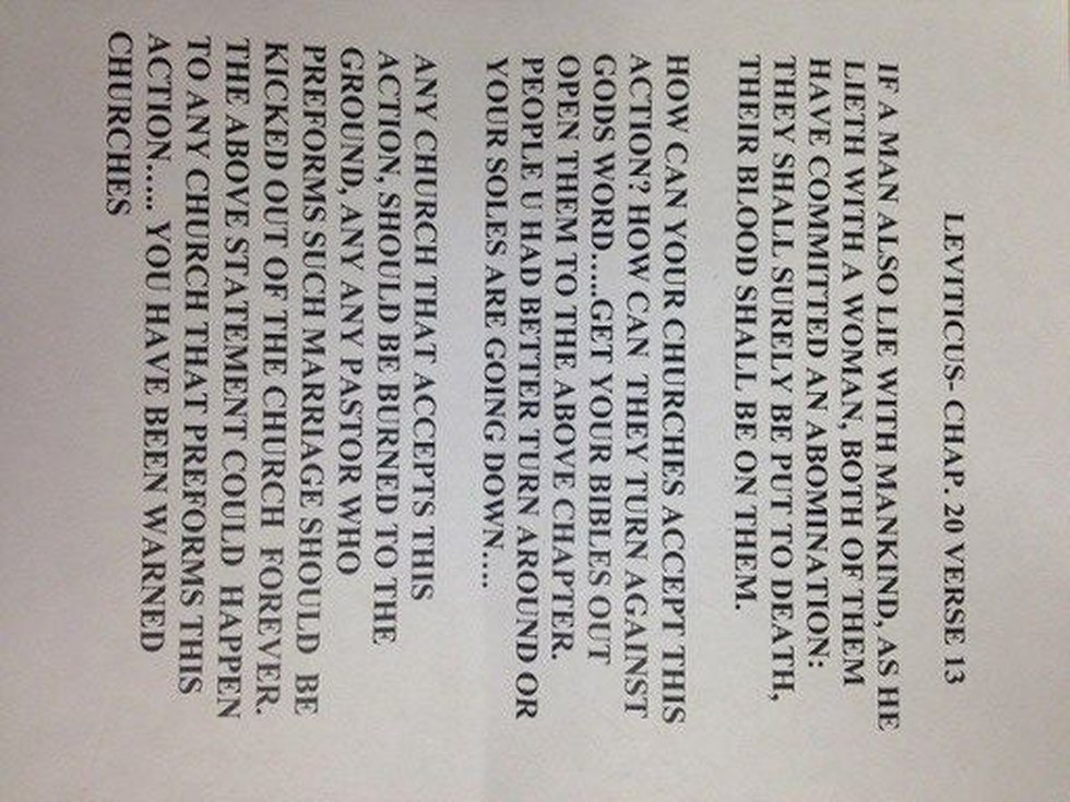This letter was sent to First Presbyterian Church in Cape Girardeau, Mo.