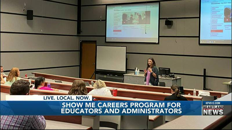 The Show-Me Careers program showed southeast Mo. educators what's available when their students...
