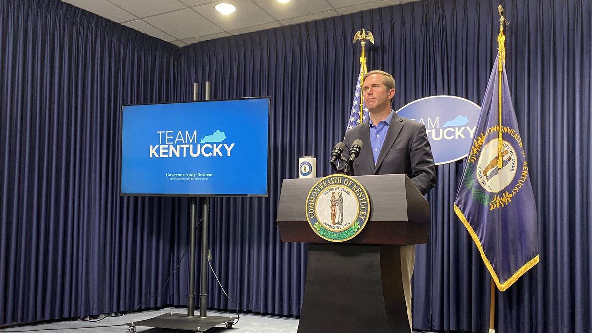 Governor Andy Beshear held a news briefing following the end of the Kentucky special session.
