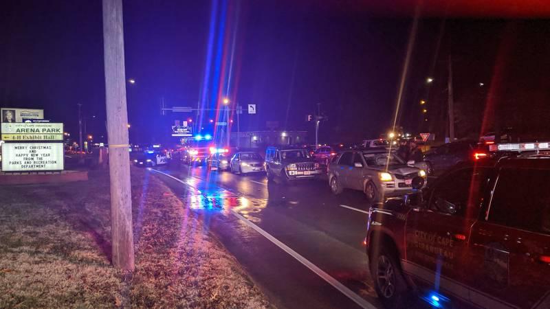 Pedestrian struck on Kingshighway and Cape Rock