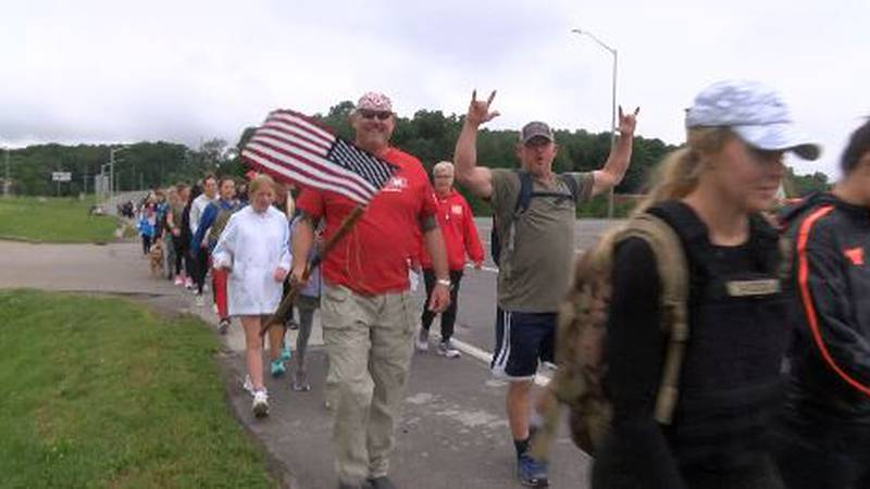 Roughly a hundred people in Cape Girardeau on Saturday marched to the river to show respect and...