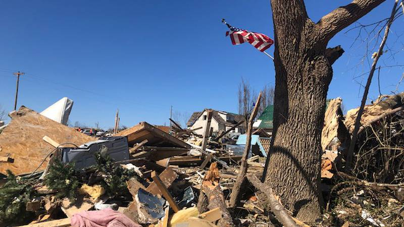 Homes reduced to rubble in Cookeville, TN
