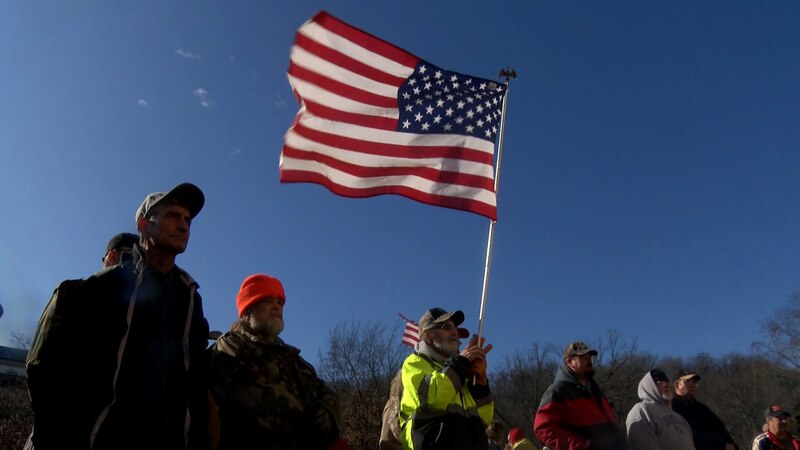 More than 100 people gathered in Frankfort to demonstrate in favor of strengthening the Second...