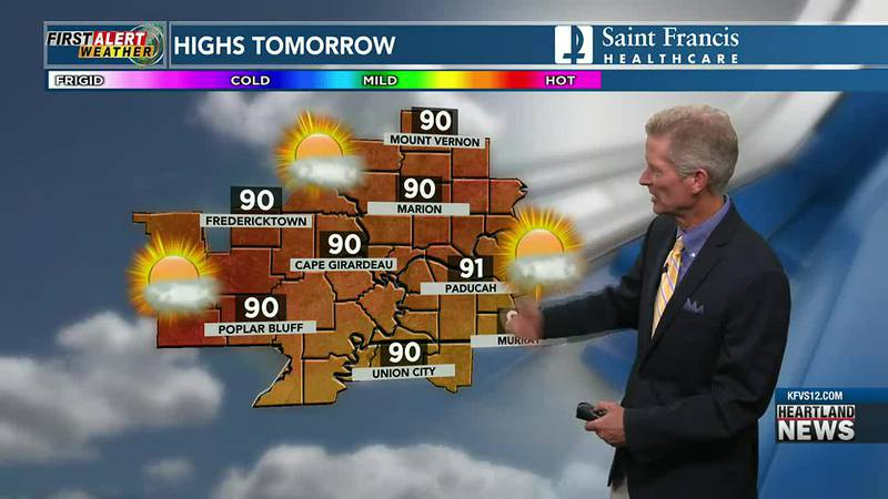 Your First Alert forecast at 10 p.m. on 7/25.
