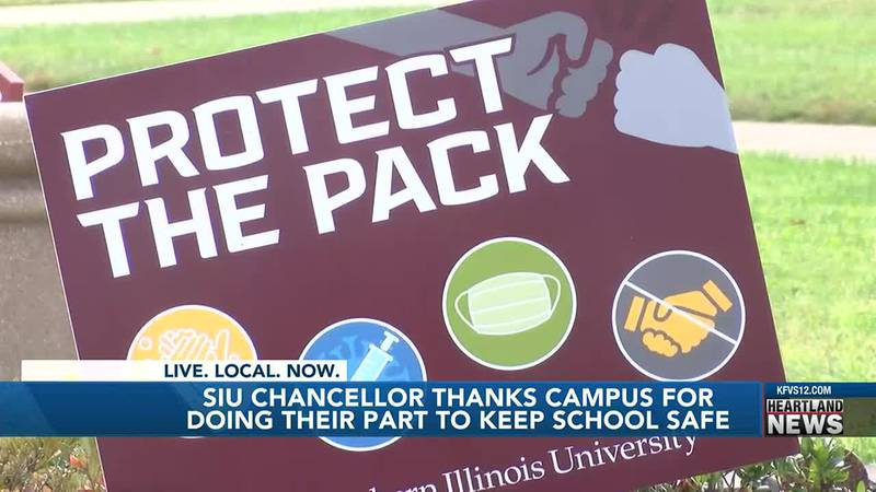 Southern Illinois University's chancellor is thanking his students and staff for doing their...