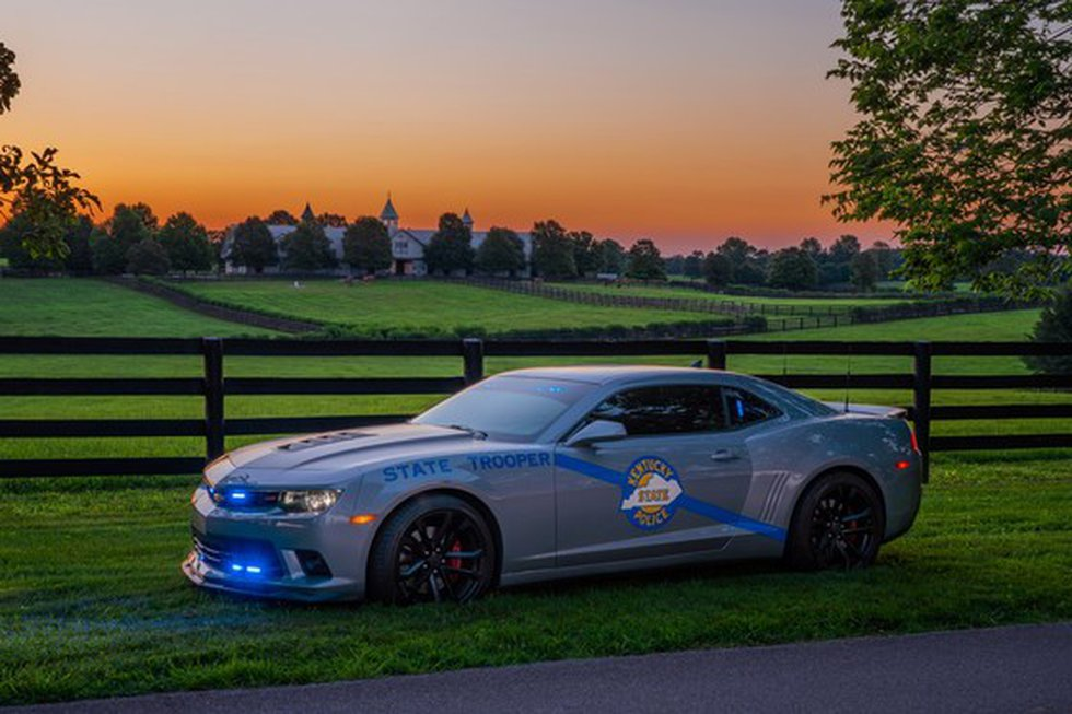 KSP's 'Best Looking Cruiser' photo entry features a 2015 Camaro at a horse farm located in...