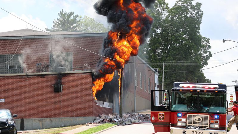A fire at the LENCO building resulted in an explosion and power outage.