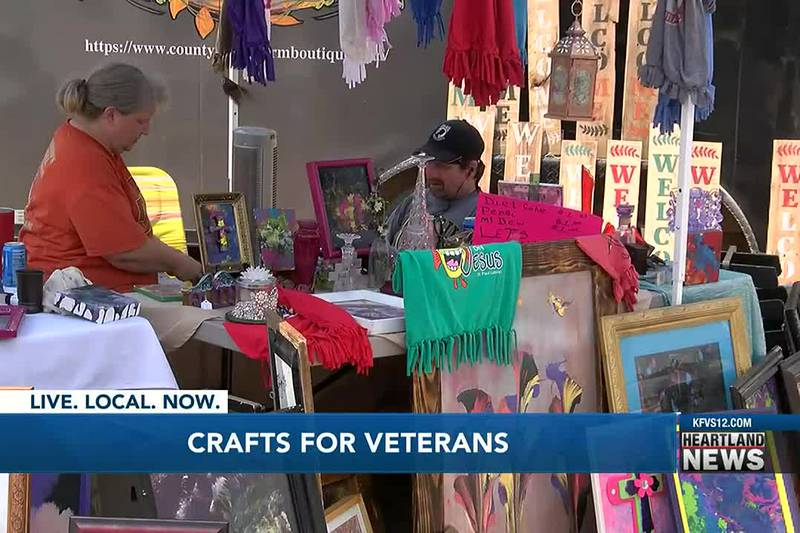 A Crafts for Veterans event was held on Saturday, July 24.