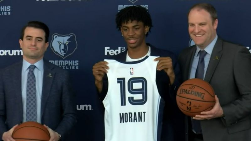 Ja Morant was selected 2nd overall with the Memphis Grizzlies. (Source: KFVS)