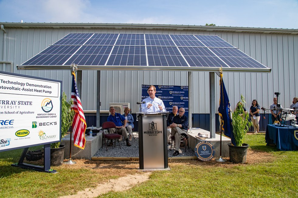 Governor Beshear visited Murray State University where he took part in a ribbon cutting at the...