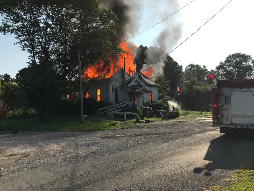 Crews from Jonesboro, Tamms, Ullin and McClure Fire Departments responded to a building fire in...