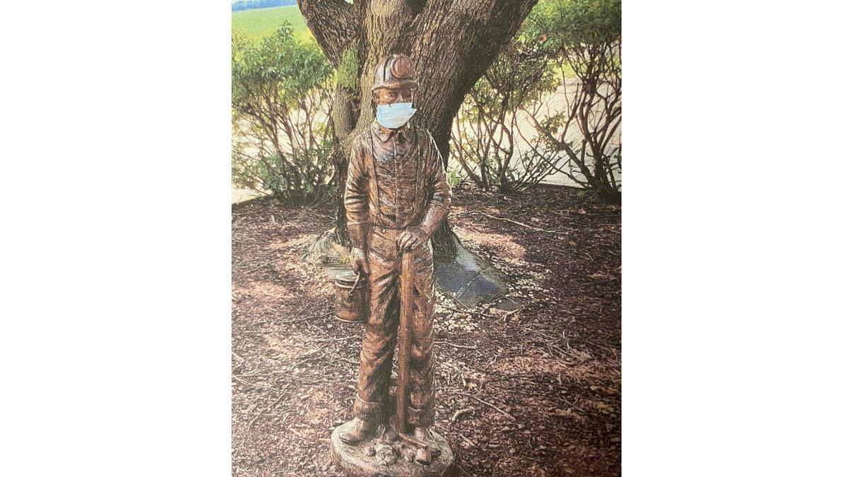 'Miner Man,' a bronze statue, was stolen from the Miner Nursing Center sometime between Friday...