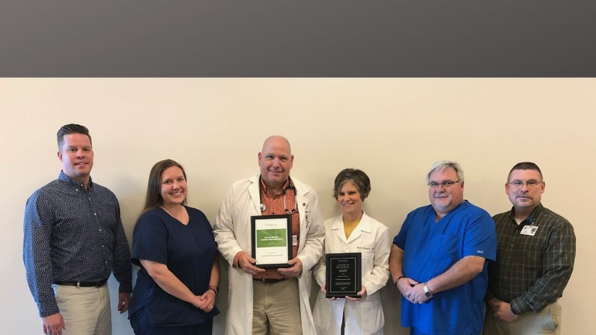 RestorixHealth's Center of Excellence award presented to the Wound Clinic at Pinckneyville...