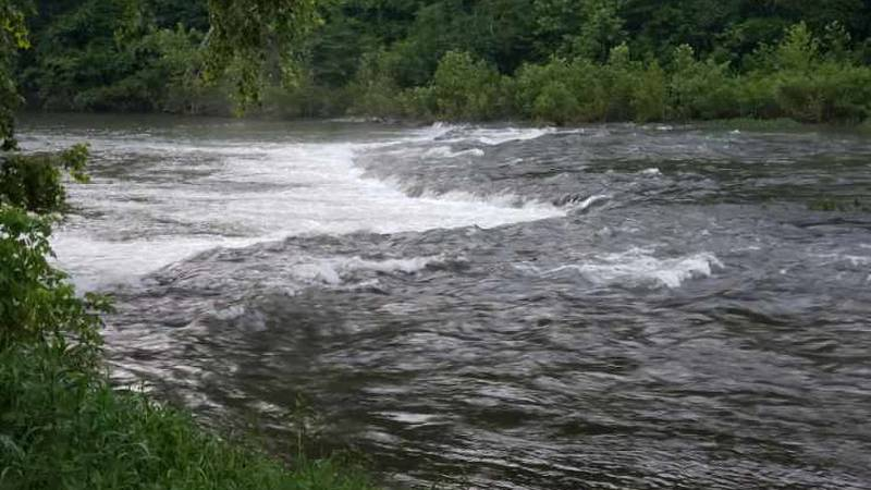 The rapids are roaring at Spring River in  Hardy Ark. and Mammoth Spring.