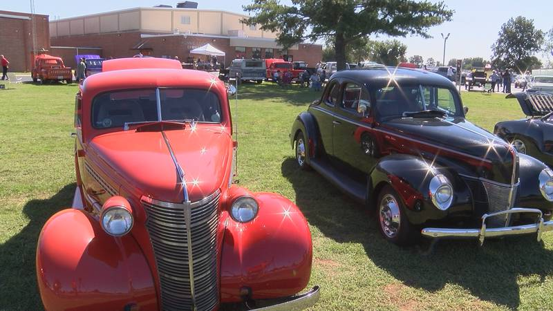 Vehicles were on display as part of the Scott County Central's 6th annual car show fundraiser.