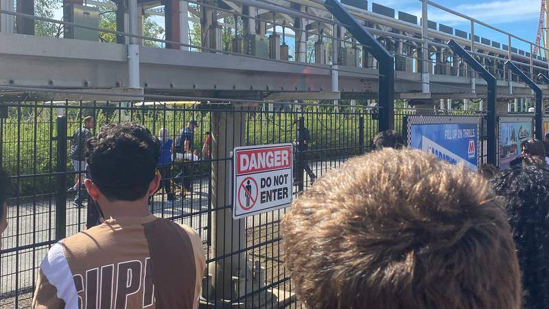 A female guest was injured Sunday while waiting in line for the Top Thrill Dragster roller...