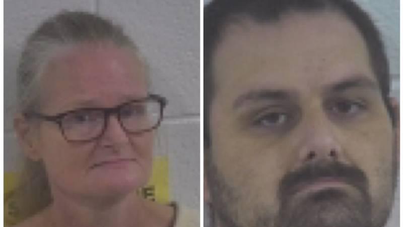 Cheryl D. Fogle (left) and Adam D. Fogle (right) were arrested following a murder investigation...