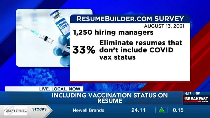 Vaccination status on resume survey