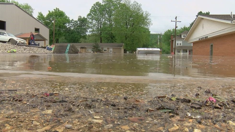 Majors says this year's spring flood left behind unprecedented damage. (Source: Mike...