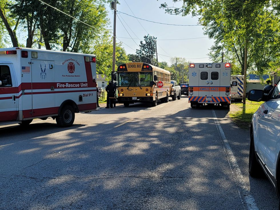 A school bus and a pick-up truck were involved in a crash on Tuesday morning in McClure, Ill. ...