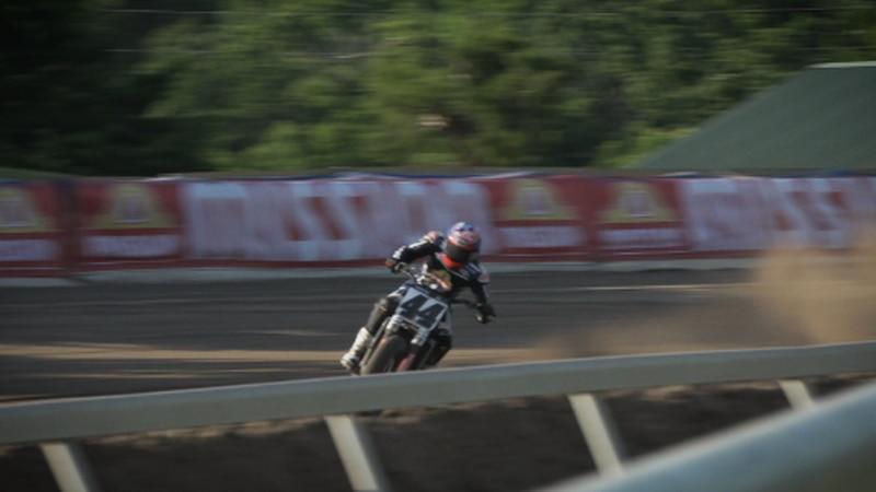 Brandon Robinson, AFT Racer, shredding some dirt.