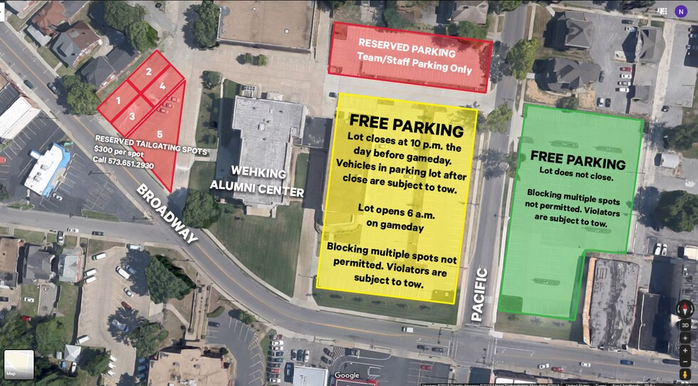 Tailgating will begin at 11 a.m.