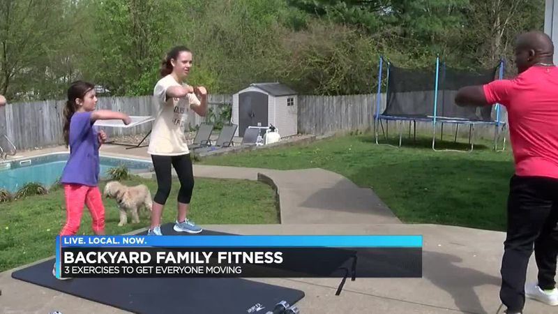 Backyard Family Fitness: Shadow boxing; Hook, cross, uppercut, trunk rotation
