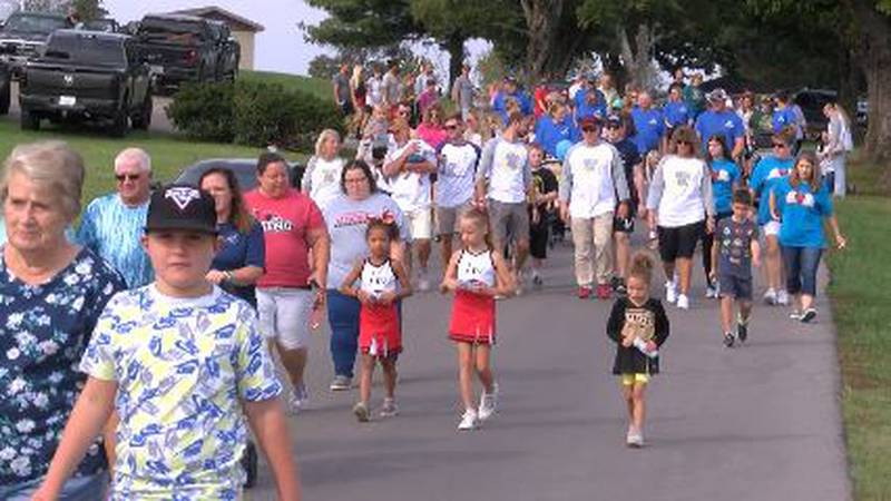 The event featured a walk of remembrance around the pond at the Cape Girardeau County Park North.