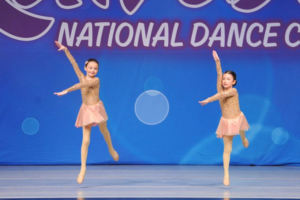 Makenzie and dancing together at a competition last year.