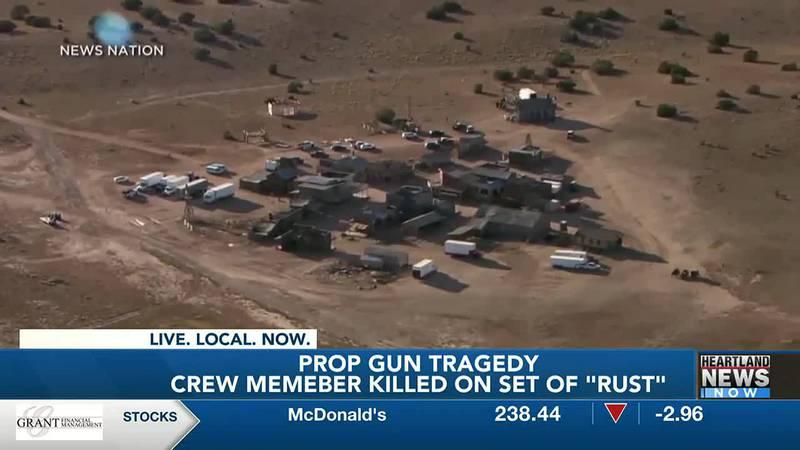 Alec Baldwin prop gun tragedy on movie set.