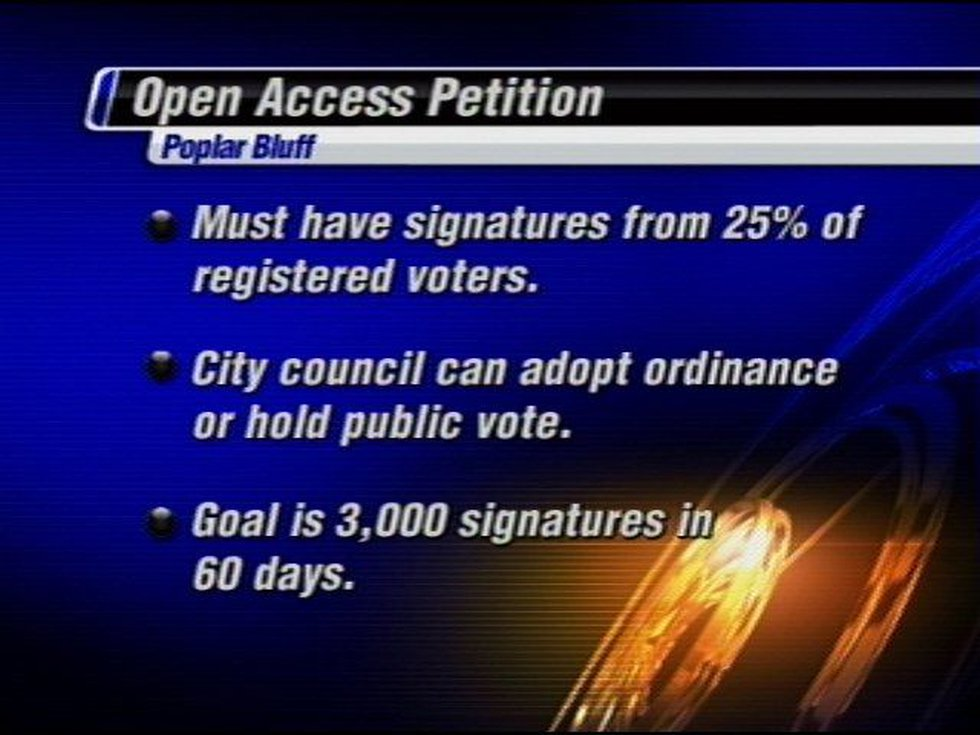 """""""We feel like if we get the signatures in 60 days, we can get on the November ballot,"""" Brian..."""