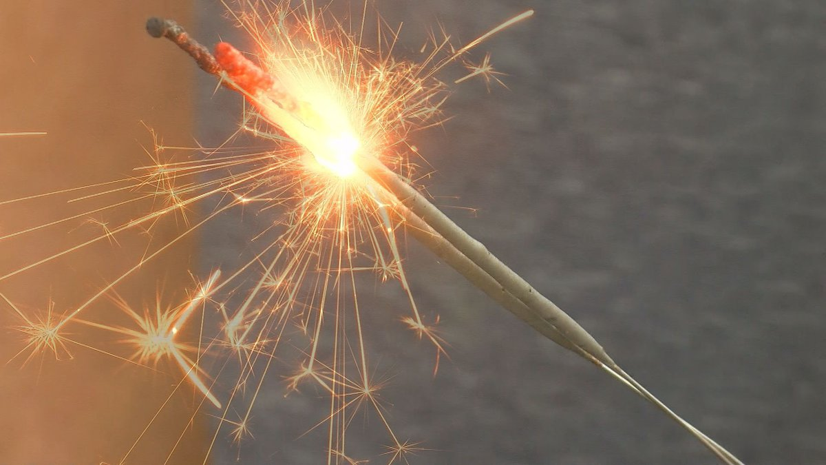 Sparklers can burn up to 1200 degrees Fahrenheit (Source: WECT).