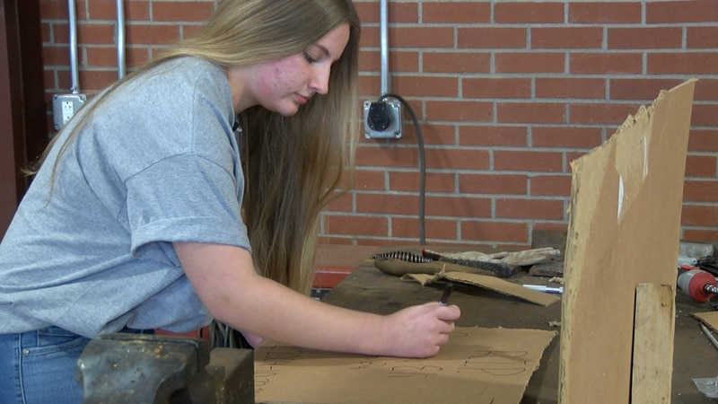 Oak Ridge FFA President, Caitlyn Ernst works on FFA in and out of the classroom.