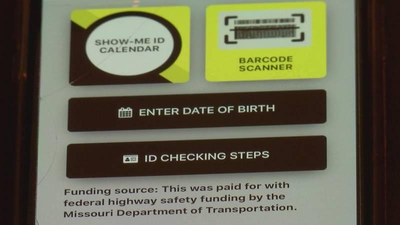 The app checks for fake IDs.