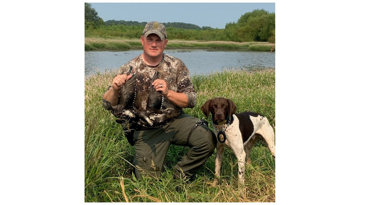Missouri Dept. of Conservation K-9 Tex helped find illegally harvested wood ducks in the Duck...