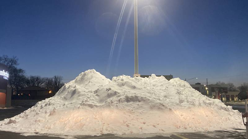 Snow piles won't cause issue when it melts