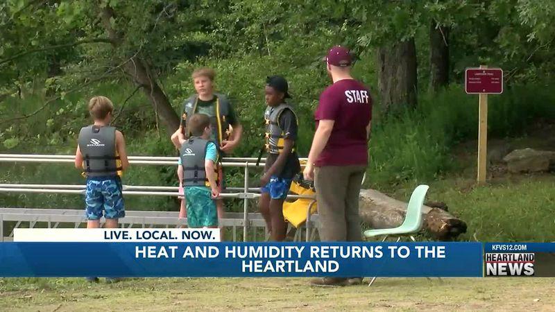 Heat and humidity return to the Heartland