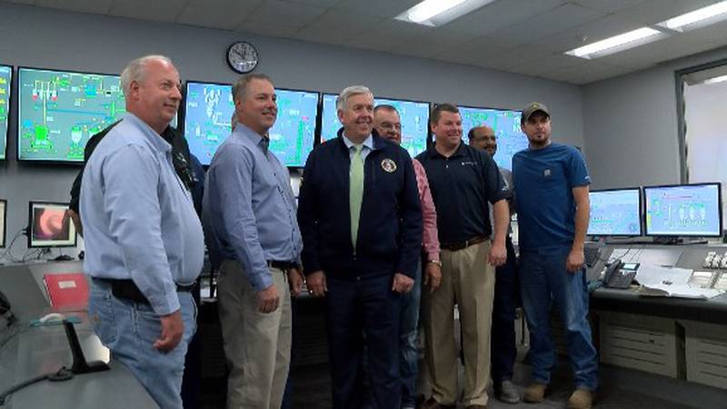 Missouri Gov. Mike Parson toured the Buzzi Unicem Plant in Cape Girardeau and met with managers...